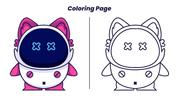 Chat robot avec des pages à colorier adaptées aux enfants