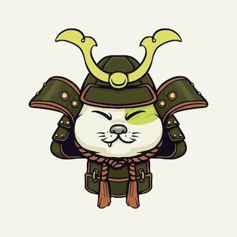 Chat samouraï