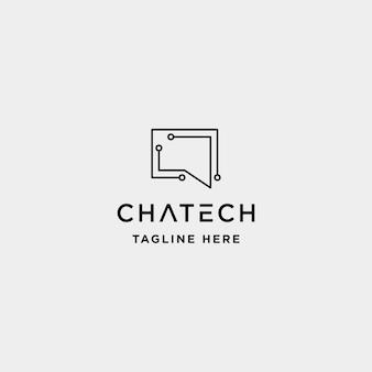 Chat technologie logo design vecteur parler internet symbole icône illustration