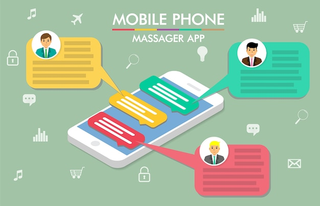 Chat sur téléphone portable