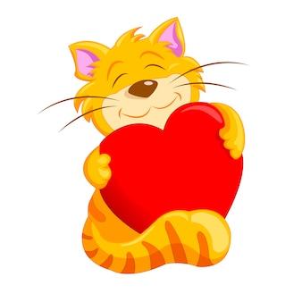 Chat tenant un coeur