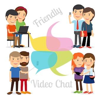 Chat vidéo amical
