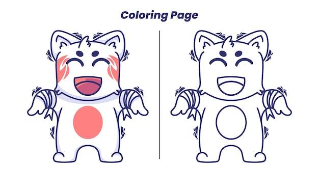 Chat Zombie Avec Des Pages à Colorier Vecteur Premium