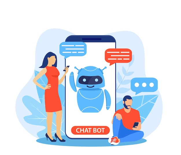 Chatbot ai et concept de service client.