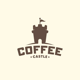 Château de café. logo créatif.
