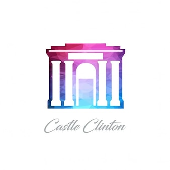 Château clinton monument polygon logo