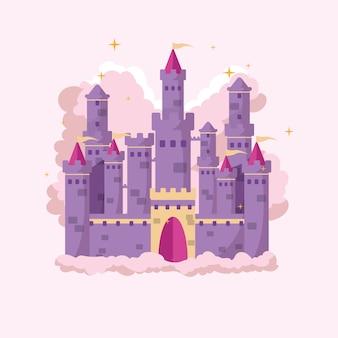 Château de conte de fées créatif illustré