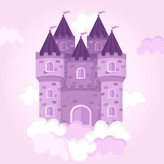 Château de conte de fées dans les nuages