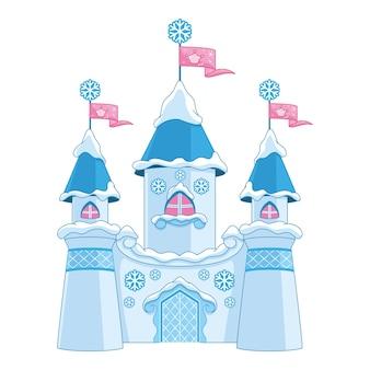 Château de conte de fées d'hiver