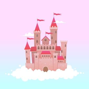Château de conte de fées sur les nuages
