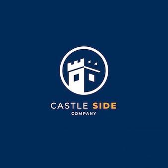 Château en logo cercle