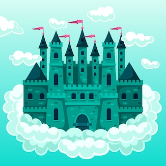 Château magique de conte de fées