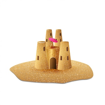 Château de sable isolé