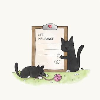 Chats avec une assurance-vie