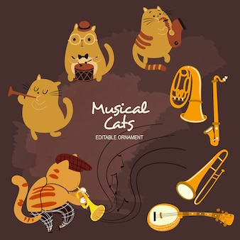 Chats musicaux