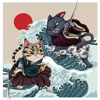 Chats samouraï