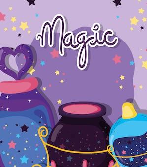 Chaudron à effet de potion magique