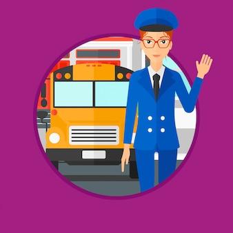 Chauffeur d'autobus scolaire.