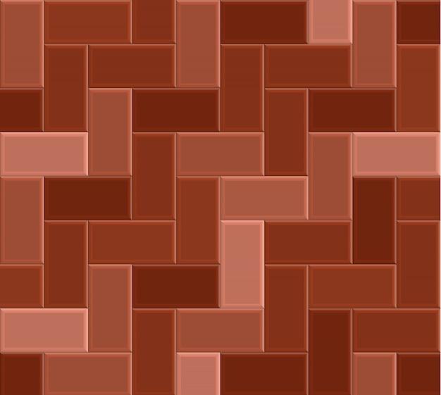 Chaussée de brique 3d