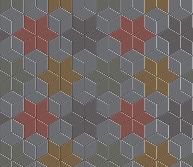 Chaussée en pierre de brique