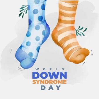 Chaussettes journée mondiale de la trisomie 21