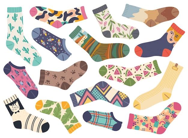 Chaussettes à la mode mignonnes avec divers designs et motifs à la mode