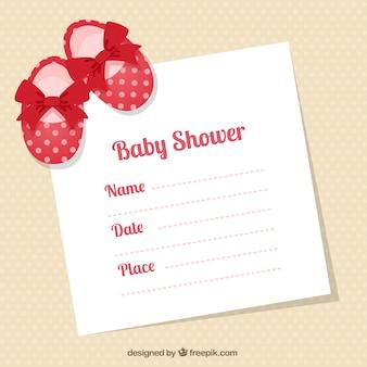 Chaussons bébé carte de douche