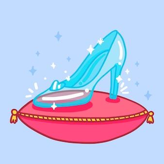 Chaussure en verre cendrillon