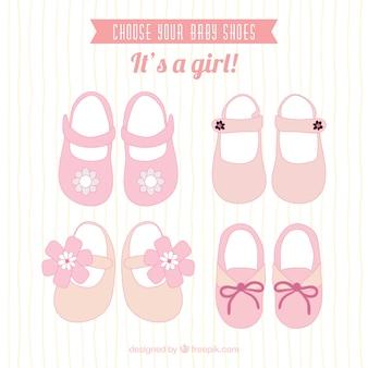 Chaussures de bébé rose