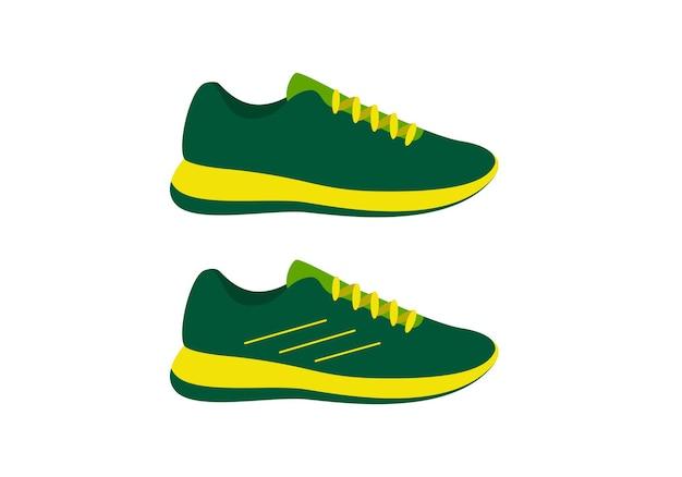 Chaussures de course pour hommes, illustration vectorielle plane.