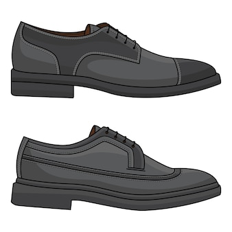 Chaussures en cuir de bureau