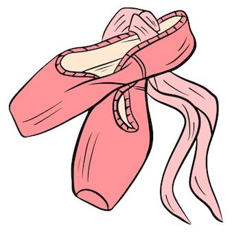 Chaussures de danse. pointes de ballet. pointes roses. pour le design et la décoration.