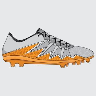 Chaussures de football de baskets de vecteur