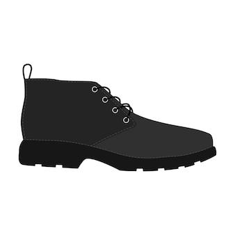 Chaussures hommes isolées. icônes de chaussures de saison homme masculin. illustration vectorielle de chaussures