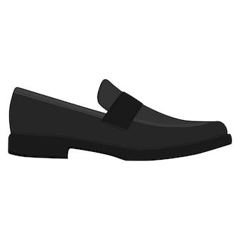 Chaussures hommes isolées. mocassins classiques. icônes de chaussures de saison homme masculin. illustration vectorielle de chaussures