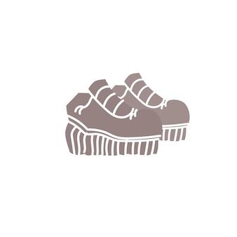 Chaussures à la mode plates de dessin animé de vecteur. nouvelles belles chaussures à la mode isolées sur un magasin de chaussures de fond-vêtements vide, concept de magasinage et de mode, conception d'annonces de bannière de site web