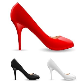 Chaussures pour femmes en trois couleurs