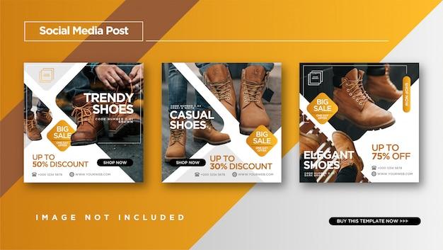 Chaussures de promotion instagram post ou bannière