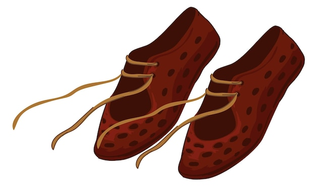 Chaussures romaines antiques avec des lacets, vieille botte de chaussures