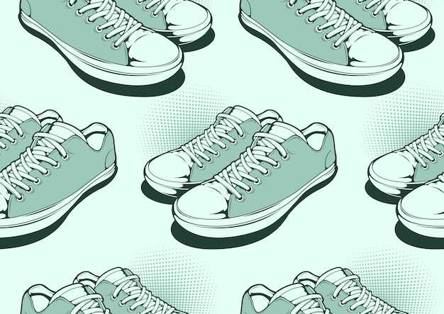 Chaussures seamless pattern