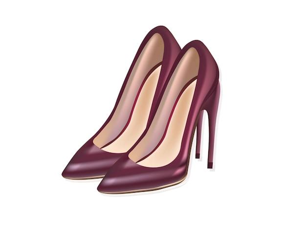 Chaussures sexy rouges. femmes stiletto détaillée