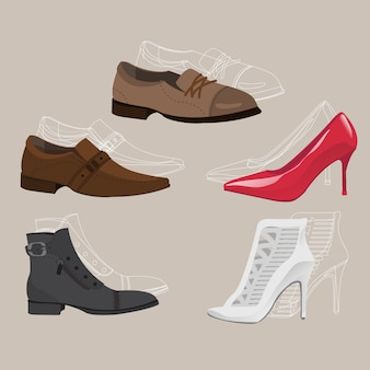 Chaussures de soirée en cuir