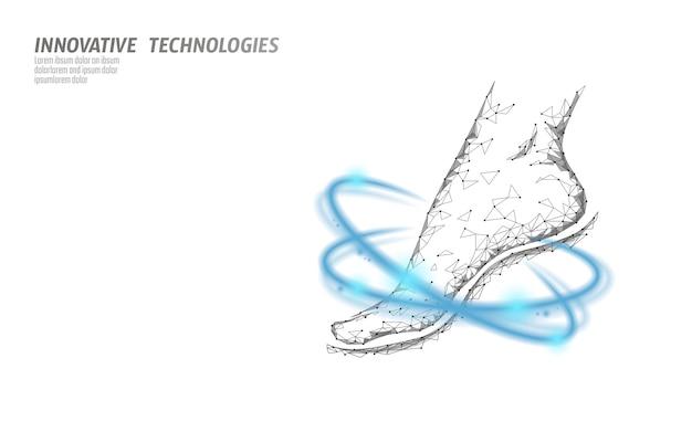 Chaussures technologie science fitness flexibilité. femme humaine fitnes