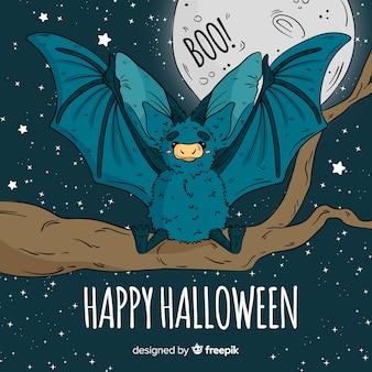 Chauve-souris d'halloween dessiné à la main de lovley