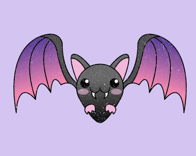 Chauve-souris halloween kawaii