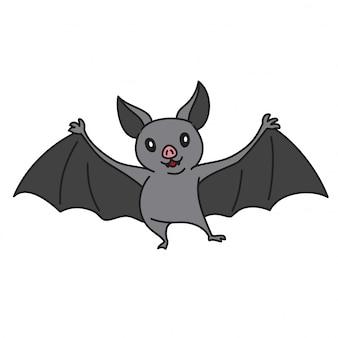 Chauve-souris vector illustration de personnage de dessin animé
