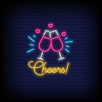 Cheers style néon