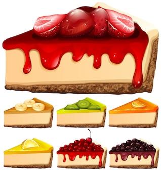 Cheesecake avec différentes garnitures
