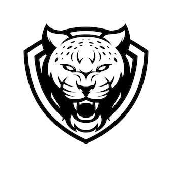 Cheetah animal sport mascot head logo vector