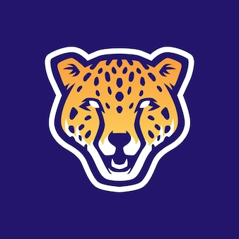 Cheetah head e sport logo icône illustration
